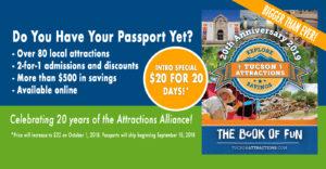 $20 for 20 days -- Tucson Passport